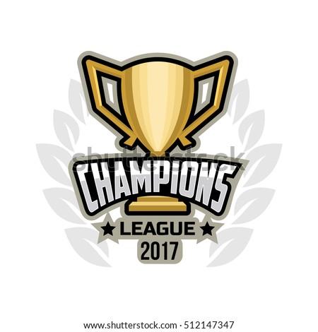 Champions sports league logo emblem badge.