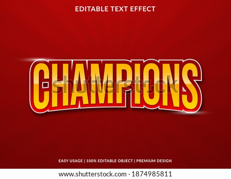 champions text effect with bold style use for business brand and logo  Foto stock ©