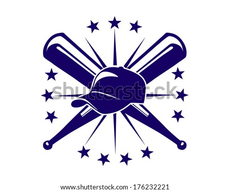 Crossed Logo Logo With Crossed Bats And