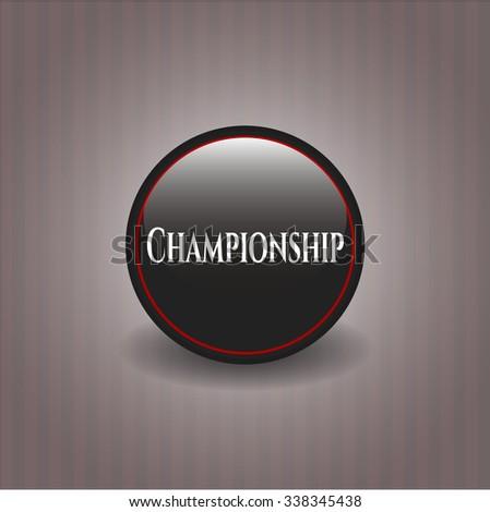 Championship black shiny badge