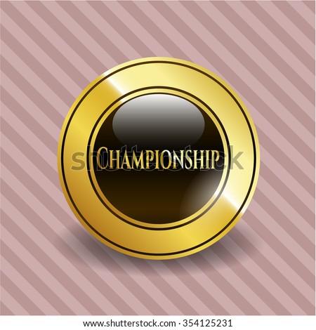 Championship gold badge