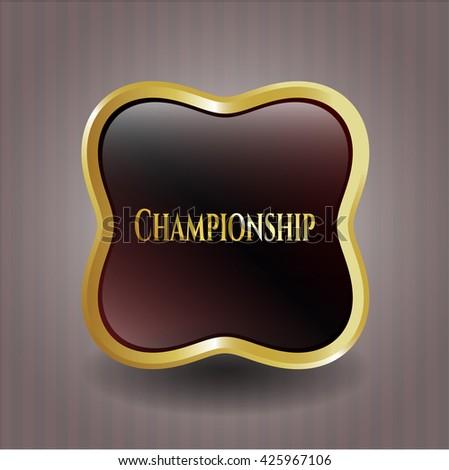 Championship gold emblem or badge