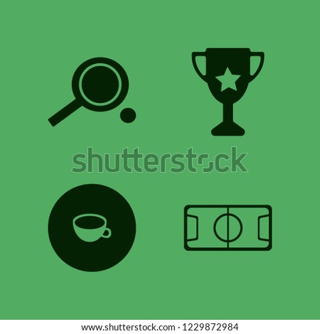 championship icon. championship vector icons set football stadium, cup, trophy cup and ping pong