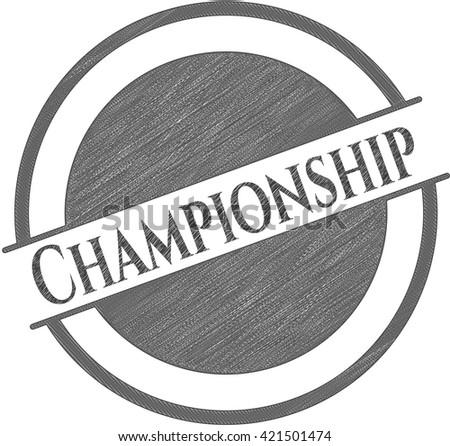 Championship pencil emblem
