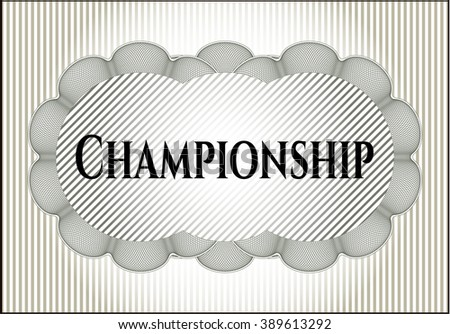 Championship poster or banner