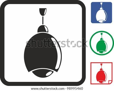 Chandelier vector icon