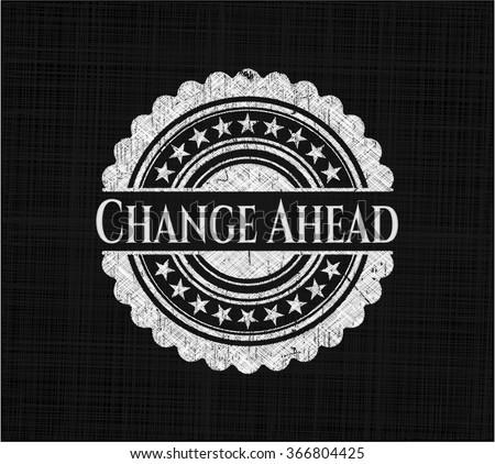 Change Ahead chalkboard emblem