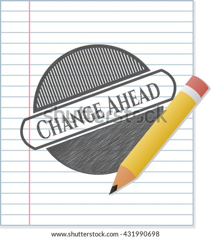 Change Ahead pencil strokes emblem
