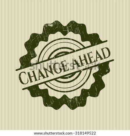 Change Ahead rubber grunge stamp
