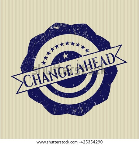 Change Ahead rubber texture