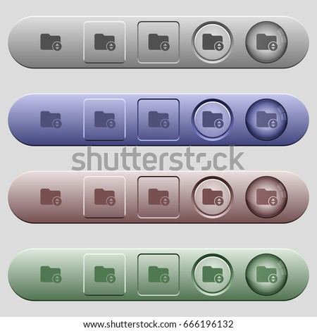 Change directory icons on rounded horizontal menu bars in different colors and button styles #666196132