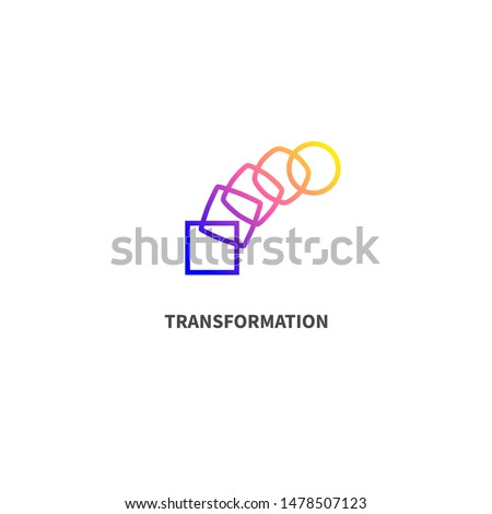 Change icon, transformation, evolution, development, coaching color logo. Vector illustration