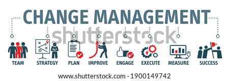 Change Management is a collective term for all approaches to prepare, support, and help individuals, teams, and organizations in making organizational change - Vector Illustration Concept