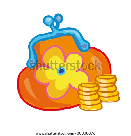 change purse with a flower