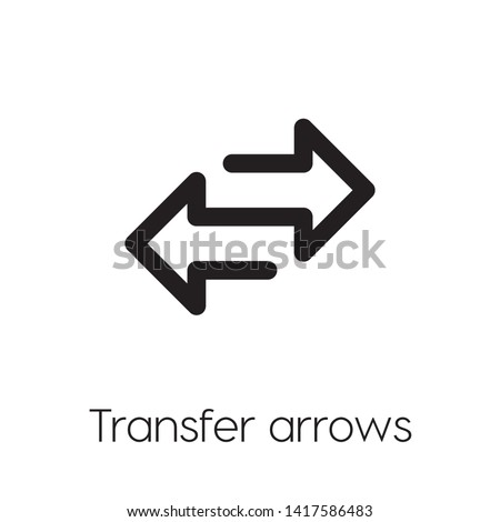 change vector icon. Linear style sign for mobile concept and web design. exchange symbol illustration. Pixel vector graphics - Vector. Stock photo ©