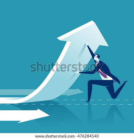 Changing direction. Business concept vector illustration