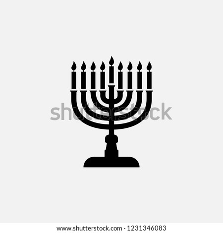 Chanukah icon. Chanukkah symbol. Flat design. Stock - Vector illustration Stok fotoğraf ©