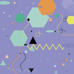 Chaos Pink Orange Ornamental Fabrics. Polygon Zigzag Calm Lines Modern Simple Hipster Art. Green Black Blue Shadows Vector Background. Silver Triangle Pastel Oval Grey Geometrical Modern Design.
