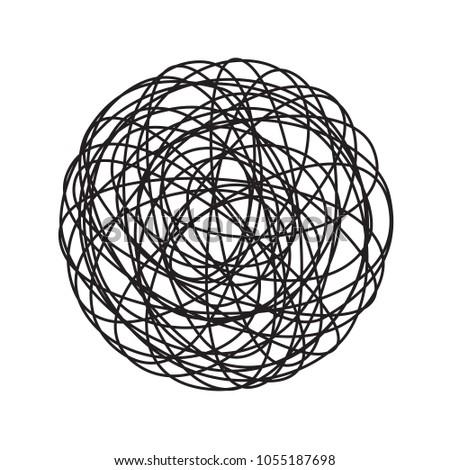 chaos tangle circle doodle line