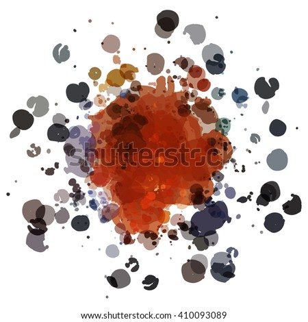 Chaotic colorful dabs, abstract background. Vector element for your design. #410093089