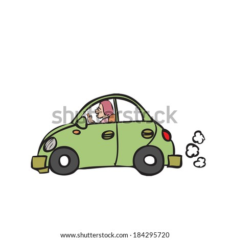 character cartoon of beetle car