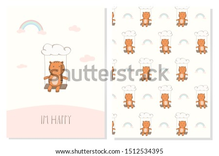 character cute tiger happy