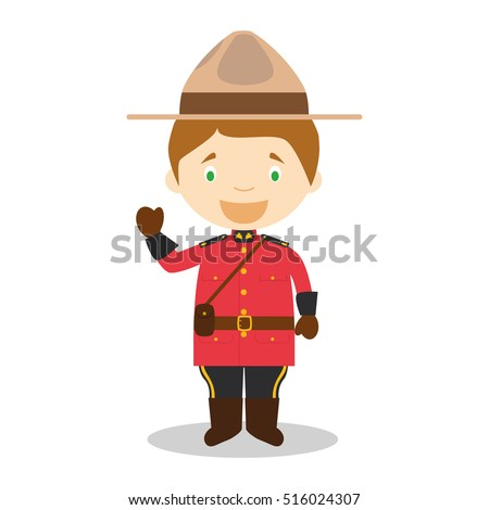 character from canada dressed