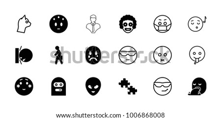 character icons set of 18