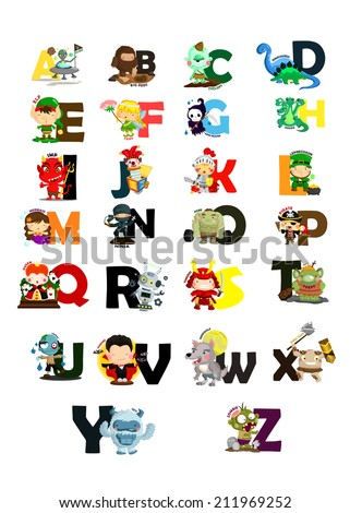character letter vector set