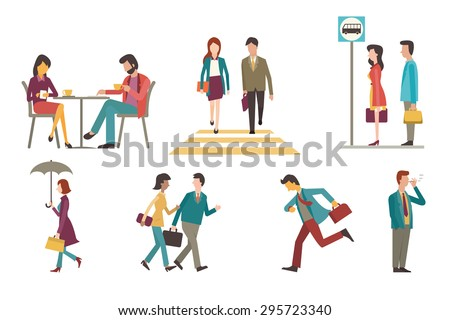 character set of businesspeople