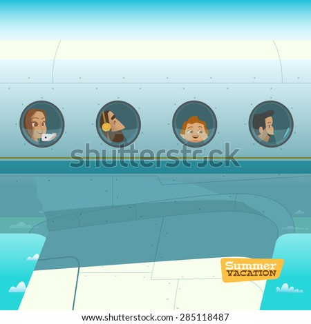 characters in airplane vector