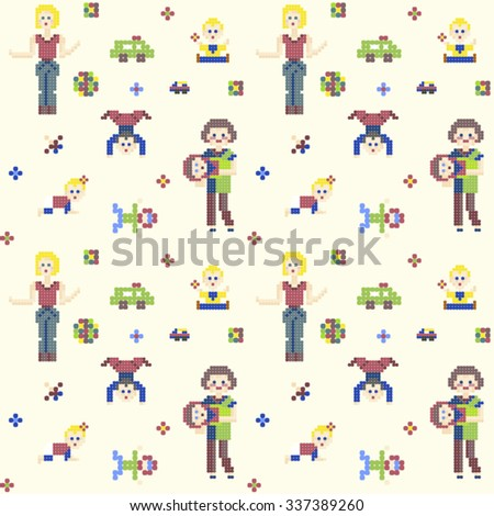 characters pixel people 8 bit