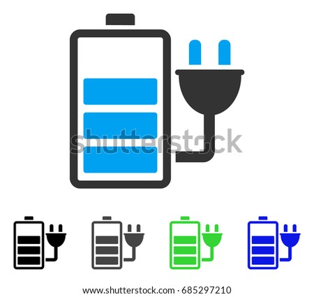 charge battery flat vector