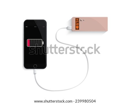 charge your phone by power bank