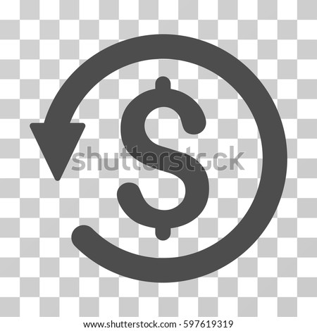 Chargeback icon. Vector illustration style is flat iconic symbol, gray color, transparent background. Designed for web and software interfaces. Stock photo ©