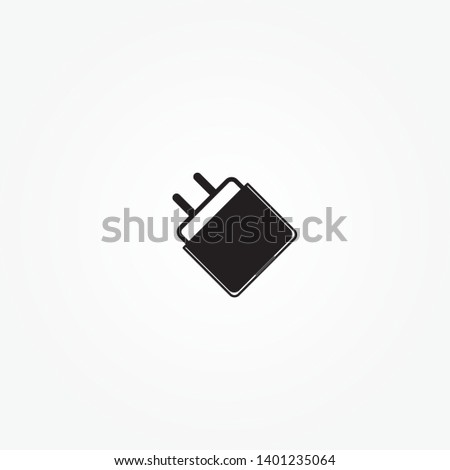 Charger icon. design charger head. Smartphone USB Charger Adapter.