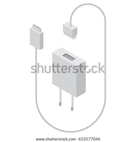 charger in isometric view usb