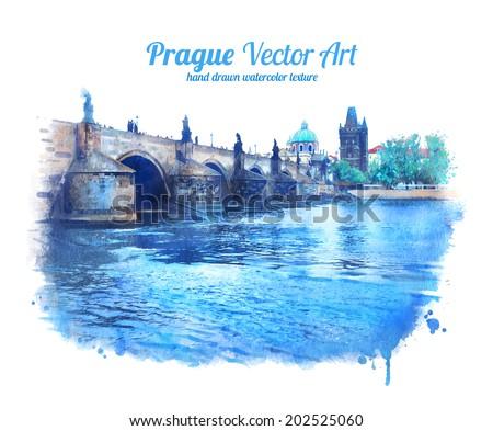 charles bridge in prague  czech