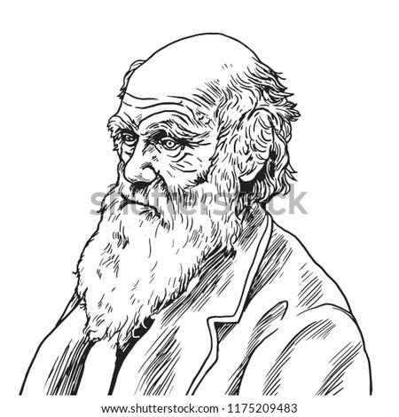 charles robert darwin vector