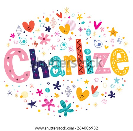 charlize girls name decorative