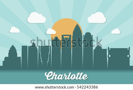 charlotte skyline  north