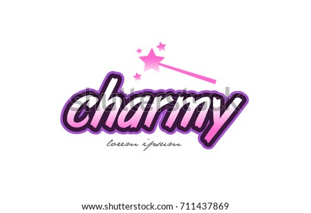 charmy word text on a white