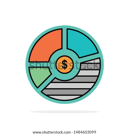 Chart, Analysis, Bar, Business, Graph, Seo, Statistics Abstract Circle Background Flat color Icon. Vector Icon Template background