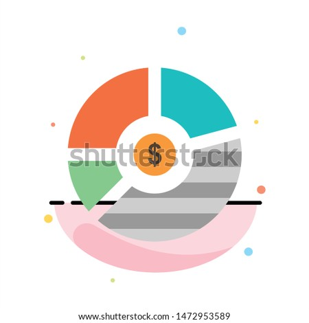 Chart, Analysis, Bar, Business, Graph, Seo, Statistics Abstract Flat Color Icon Template