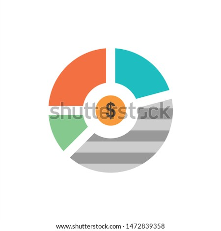 Chart, Analysis, Bar, Business, Graph, Seo, Statistics  Flat Color Icon. Vector icon banner Template