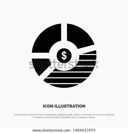 Chart, Analysis, Bar, Business, Graph, Seo, Statistics solid Glyph Icon vector. Vector Icon Template background