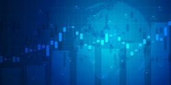 Chart financial market . Forex trading graphic design concept. Trading platform. Business graph. Vector Illustration