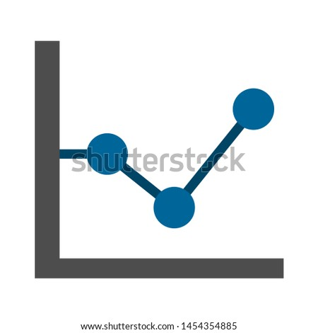 chart graph icon. flat illustration of chart graph. vector icon. chart graph sign symbol