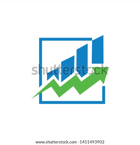 Chart, graph, revenue growth,icon growth symbol .consulting growth design.business financial growth icon.