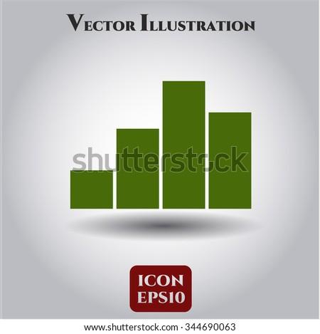 Chart icon vector illustration